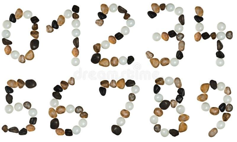 Dígitos hechos de piedras imagen de archivo