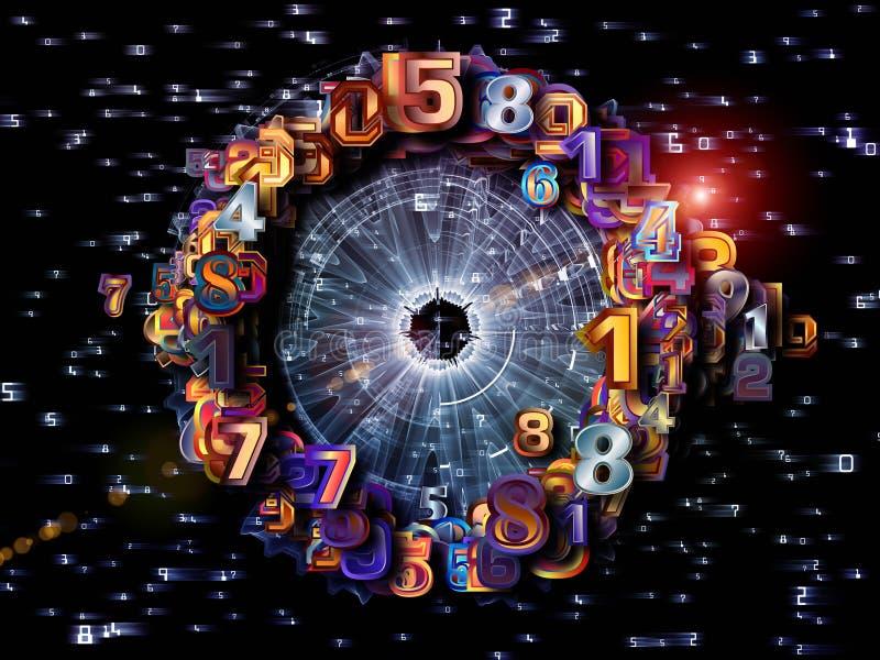 Dígitos radiales fotografía de archivo