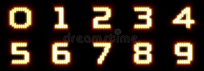 Dígitos realistas del reflector foto de archivo