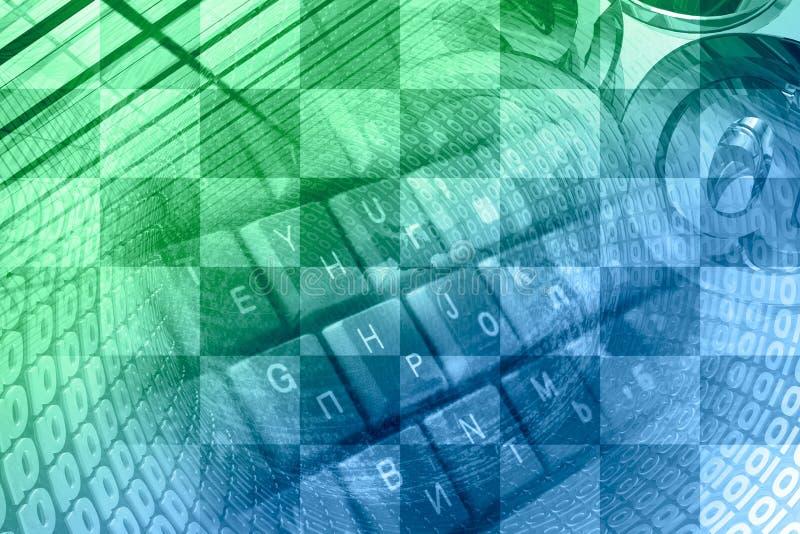 Dígitos, sinais do correio e teclado ilustração royalty free