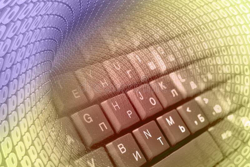 Dígitos y teclado imagen de archivo libre de regalías