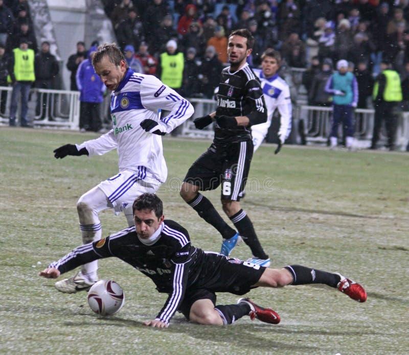 Dínamo Kyiv de FC contra Besiktas imagem de stock