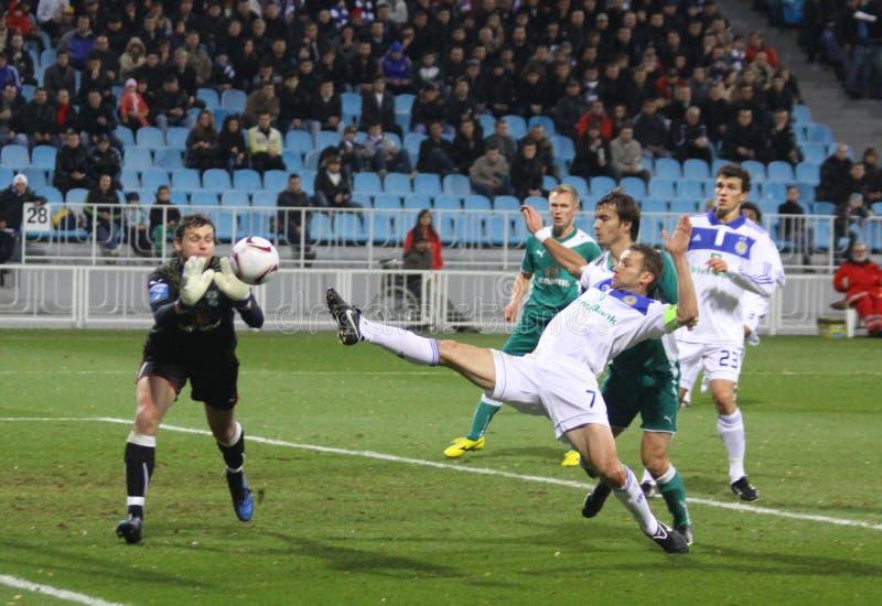 Download Dínamo Kyiv De FC Contra FC Obolon Fotografia Editorial - Imagem de back, jogador: 16873232