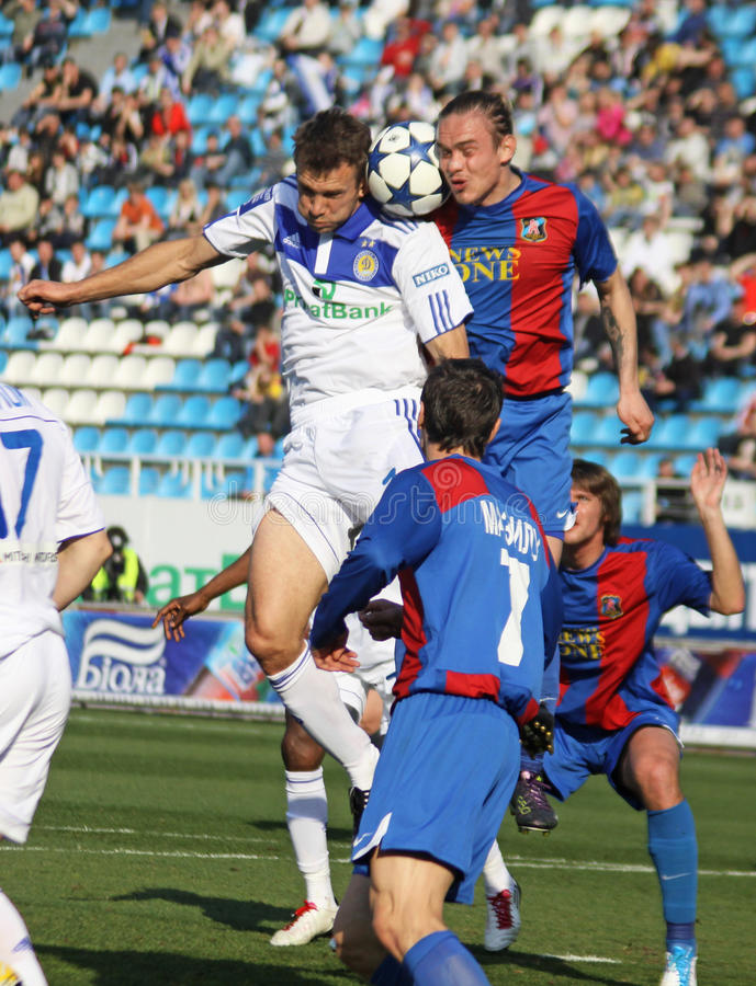 Dínamo Kyiv de FC contra o arsenal de FC imagens de stock royalty free