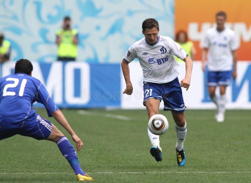 Dínamo Moscovo de FC contra o dínamo Kyiv de FC fotos de stock