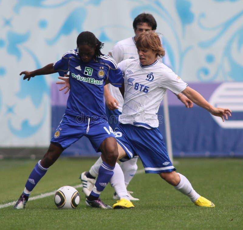 Dínamo Moscovo de FC contra o dínamo Kyiv de FC imagens de stock