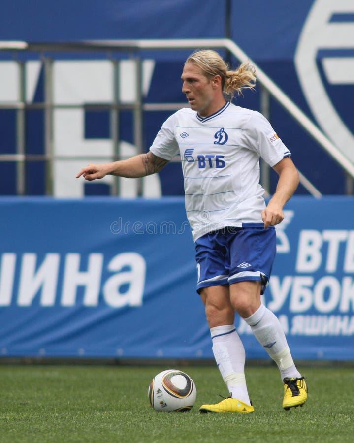 Dínamo Moscovo de FC contra o dínamo Kyiv de FC fotografia de stock