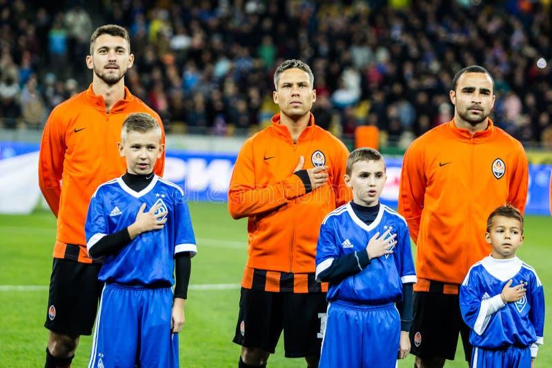 Dínamo ucraniano Kyiv - Shakhtar Donetsk, O del partido de liga primera foto de archivo libre de regalías