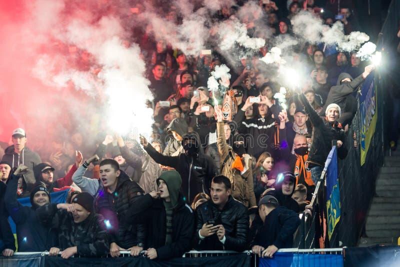 Dínamo ucraniano Kyiv - Shakhtar Donetsk, O del partido de liga primera fotos de archivo libres de regalías