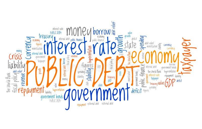 Dívida pública ilustração do vetor