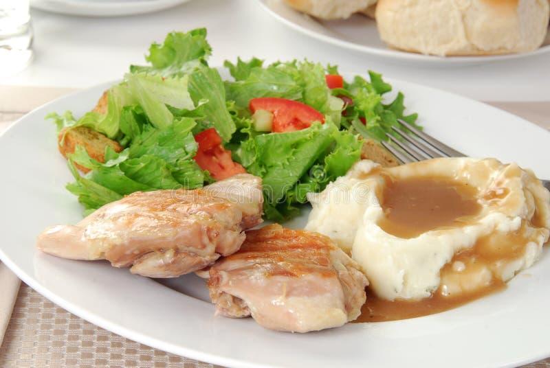 Dîner élégant de poulet images stock
