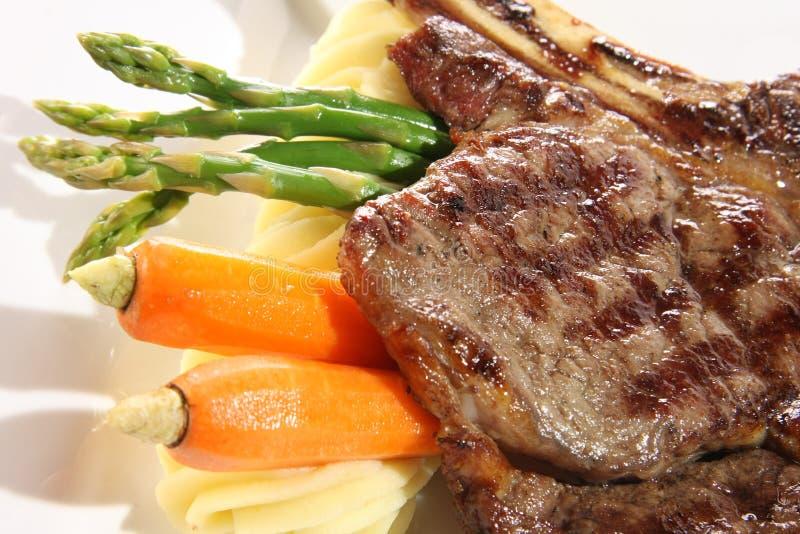 Dîner de bifteck photo libre de droits