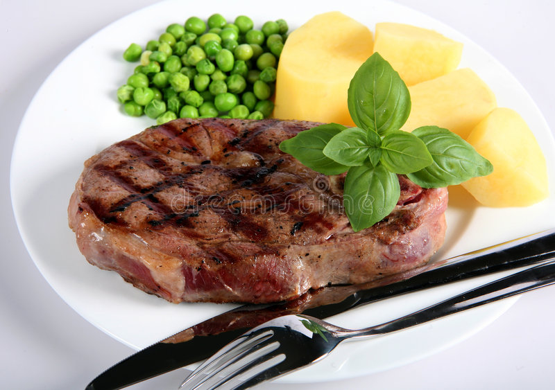 Dîner De Bifteck De Patte D Agneau Image stock