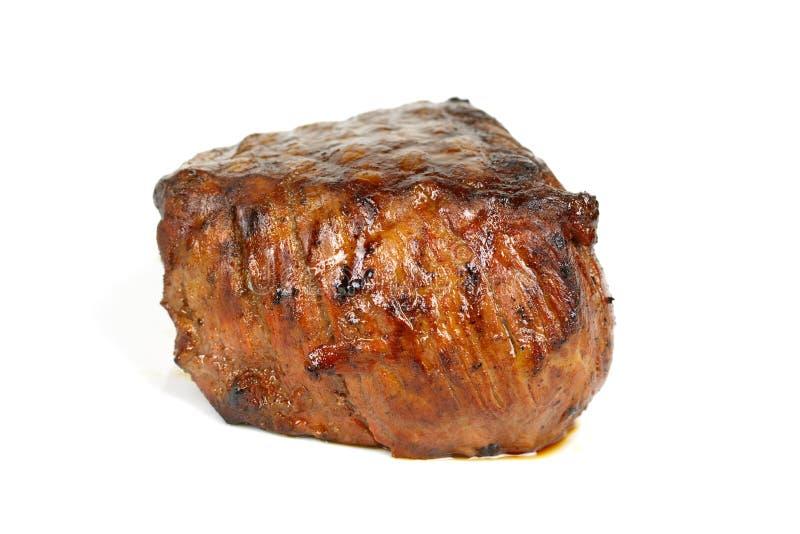 Dîner de bifteck, grillé juteux de Mignon- de filet, isolat image libre de droits