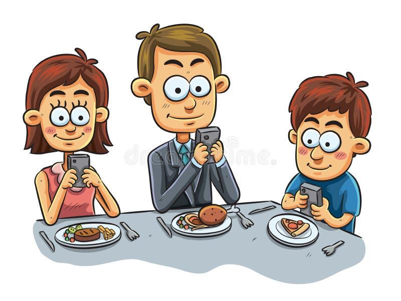 Dîner de famille illustration de vecteur