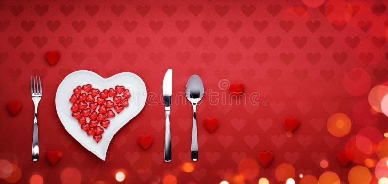 Dîner de jour de valentines image libre de droits