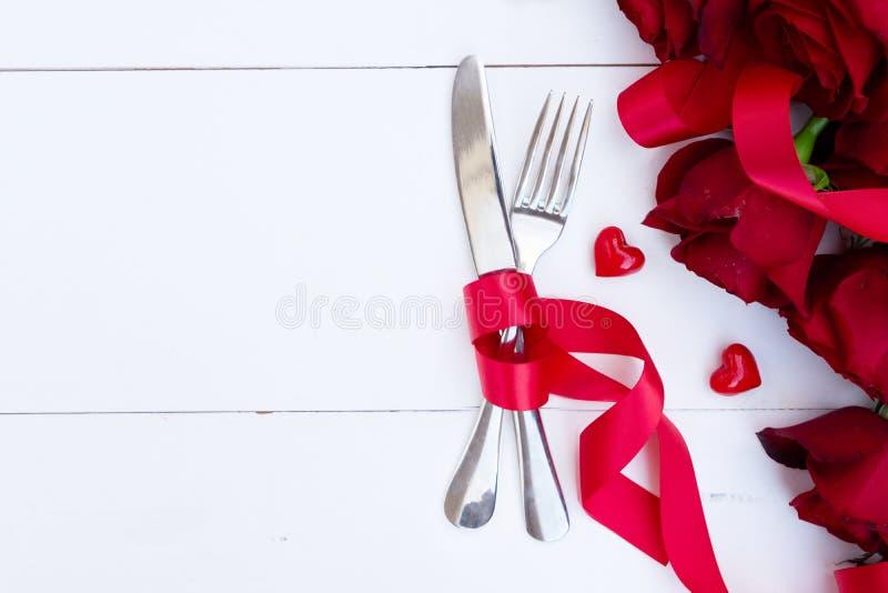 Dîner de jour de valentines photos libres de droits