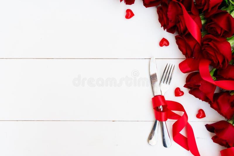 Dîner de jour de valentines photographie stock