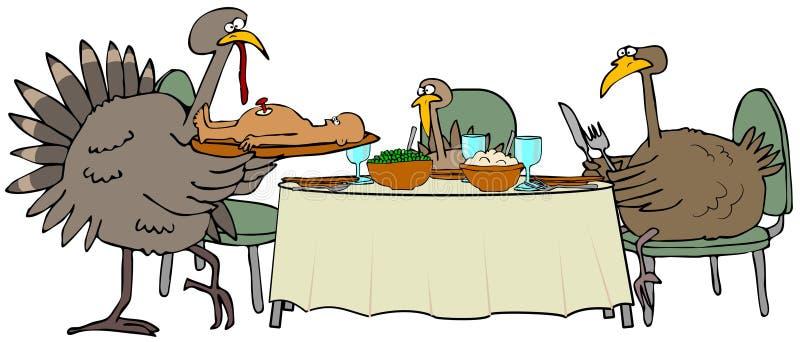 Dîner de la Turquie illustration de vecteur