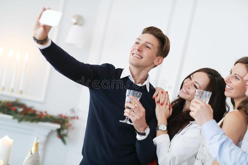 Dîner de Noël photos libres de droits