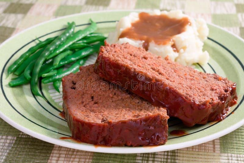 Dîner de pain de viande photos libres de droits