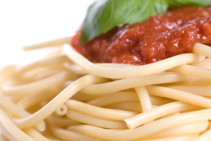 Dîner de spaghetti images libres de droits