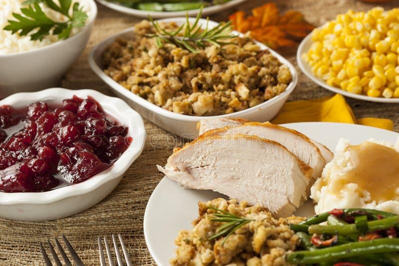 Dîner fait maison de thanksgiving de la Turquie