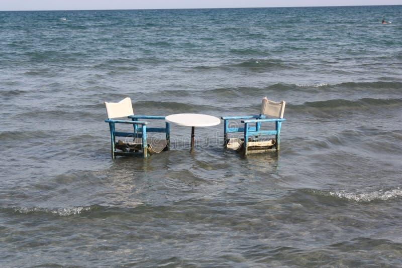 Dîner fantastique en Grèce pour le romantics photos libres de droits