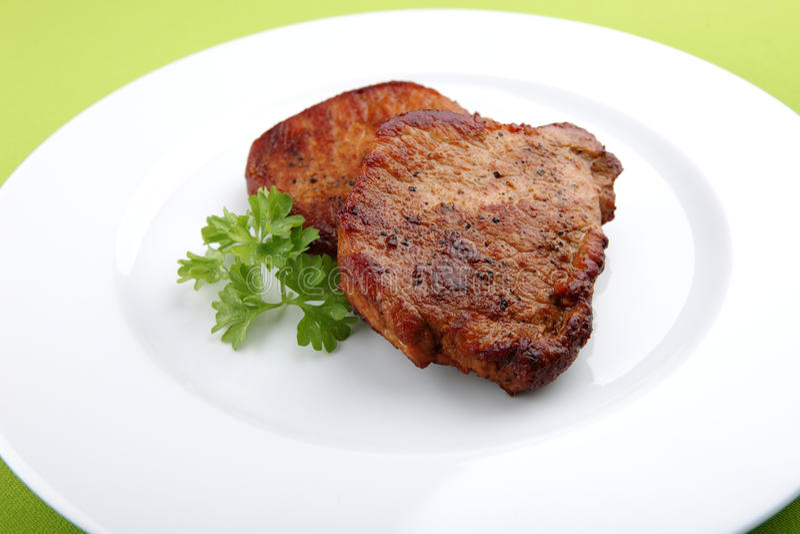 Dîner juteux de bifteck images libres de droits