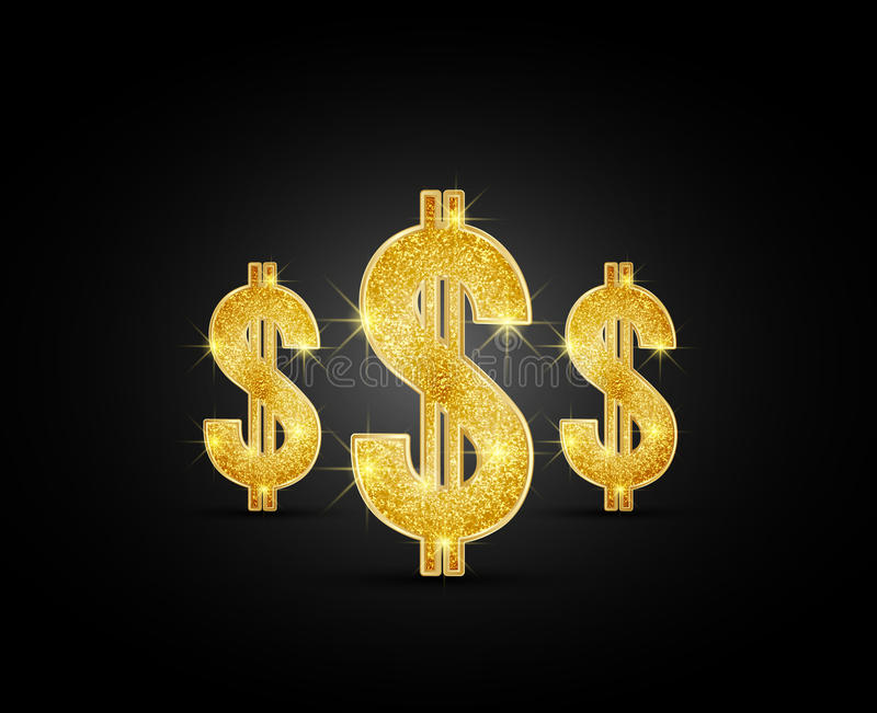Dólar ilustración del vector