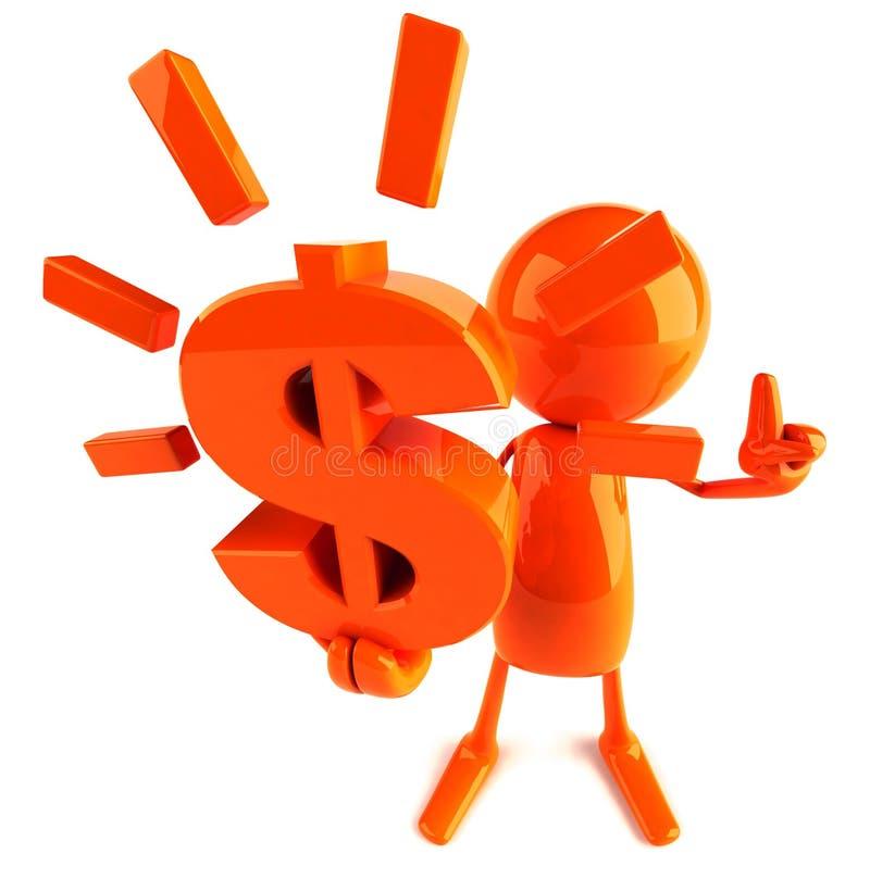 Dólar ilustração do vetor