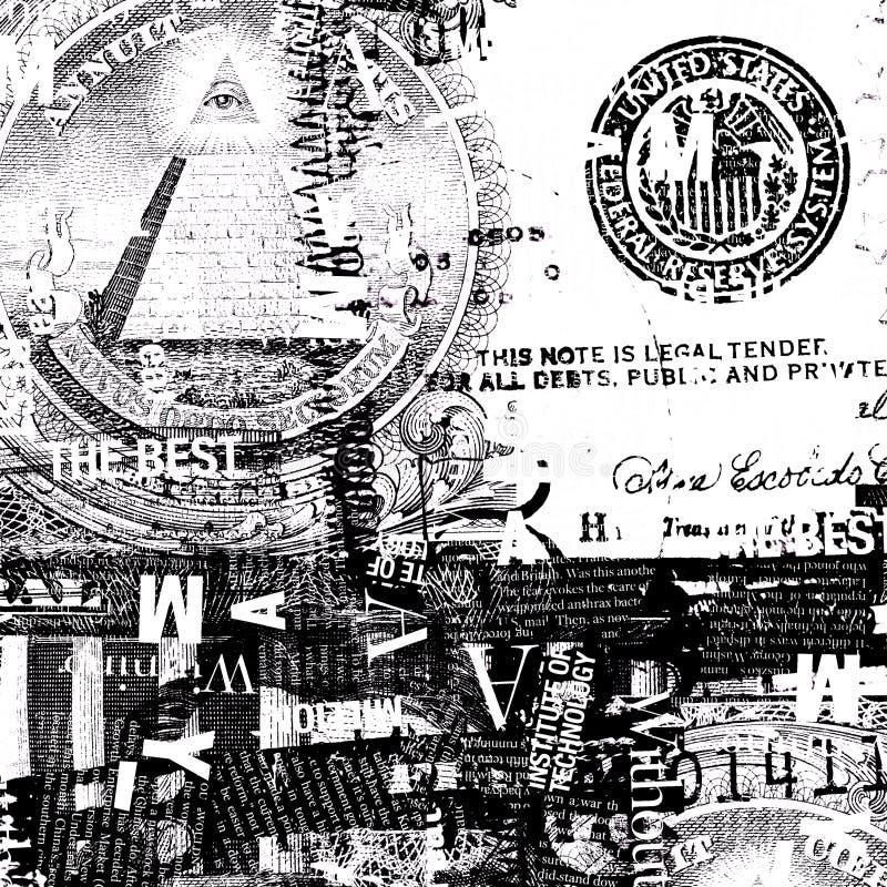 Dólar americano ilustración del vector