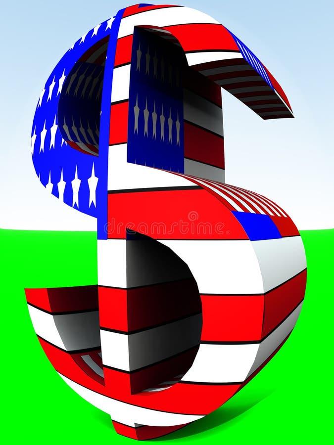 Dólar americano 9 ilustração do vetor