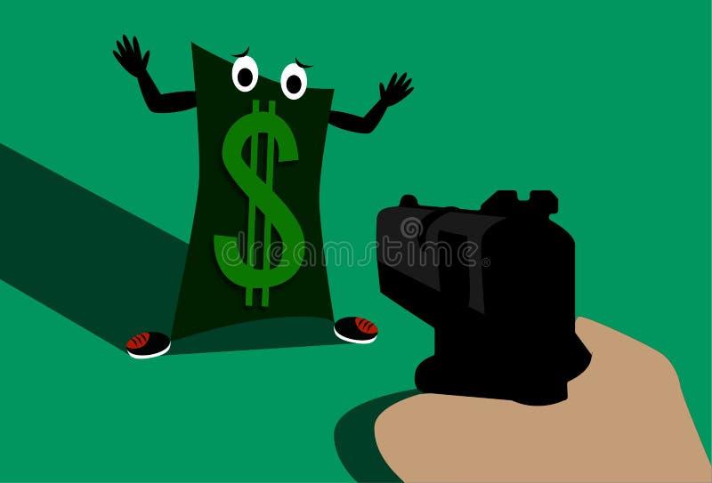 Dólar assustado imagens de stock