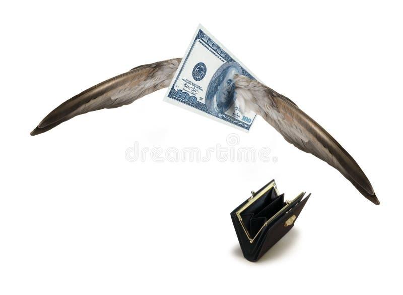Dólar ausente que vuela imagenes de archivo