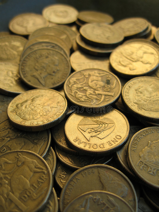 Dólar australiano 3 foto de archivo libre de regalías