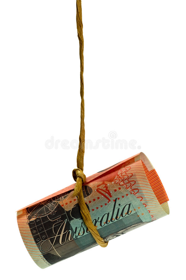 Dólar australiano de oscilação imagens de stock royalty free