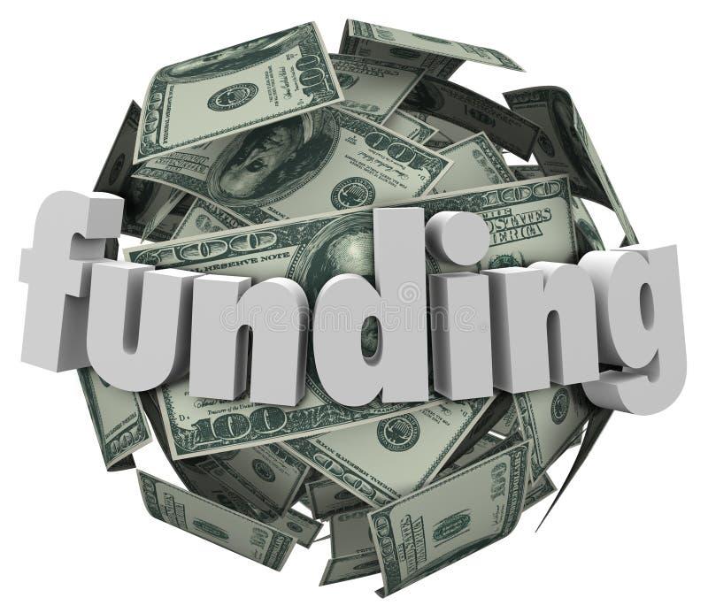 Dólar Bill Currency Ball del dinero 100 de la palabra de la financiación libre illustration