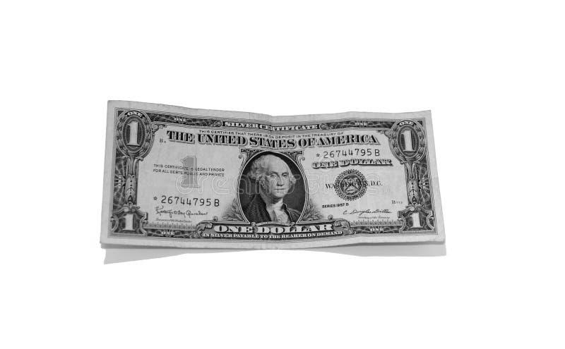Dólar Bill de plata imagenes de archivo