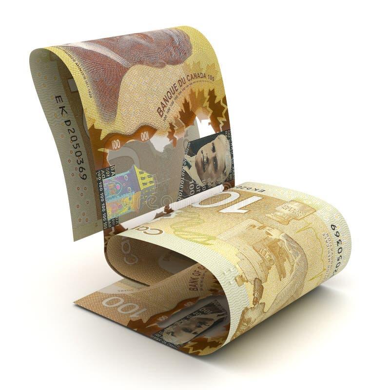 Dólar canadiense de manejo libre illustration