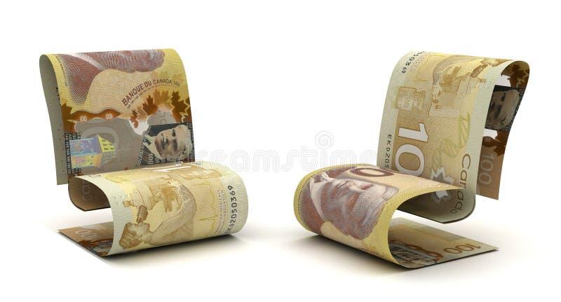 Dólar canadiense de manejo stock de ilustración