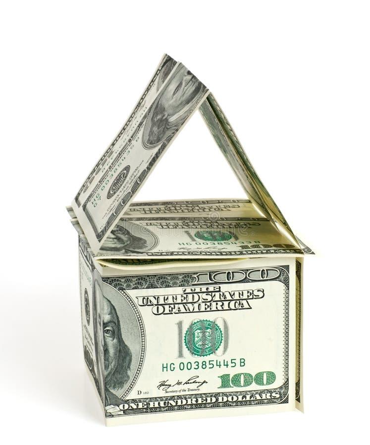 Dólar - a casa imagem de stock royalty free