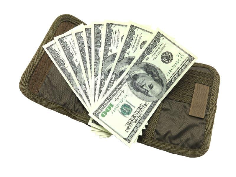 Dólar com carteira imagens de stock royalty free