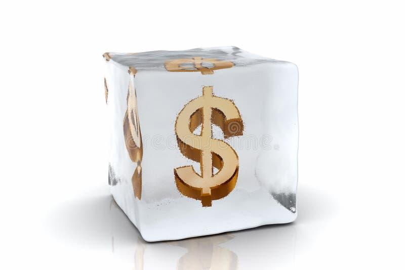 Dólar congelado ilustração stock