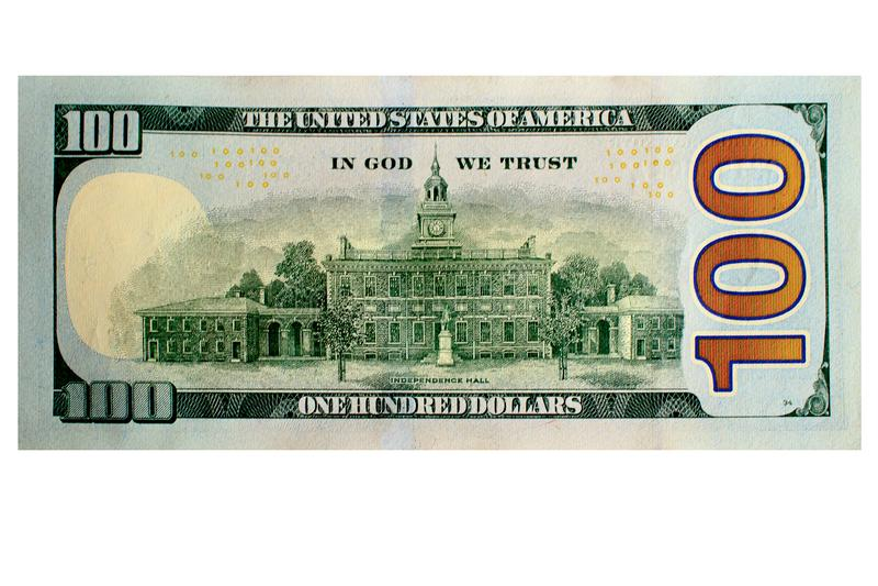 Dólar, 100, conta, cem, contas, dinheiro, um, fundo, dólares, americano, moeda, negócio, EUA, operação bancária, papel, dinheiro, fotografia de stock royalty free