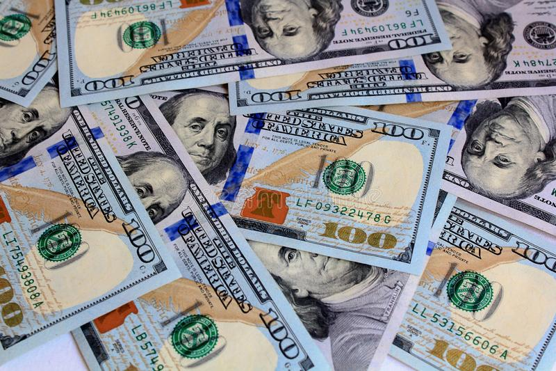 Dólar, 100, cuenta, ciento, cuentas, dinero, uno, fondo, dólares, americano, moneda, negocio, los E.E.U.U., actividades bancarias imagen de archivo libre de regalías