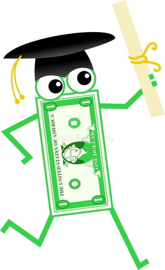 Dólar da graduação ilustração do vetor