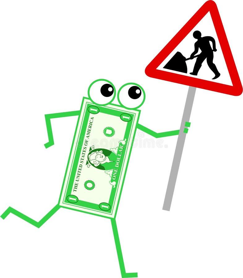 Dólar da manutenção ilustração do vetor