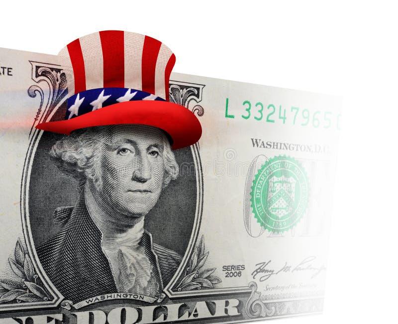 Dólar de EE. UU. Bill con el sombrero de copa libre illustration