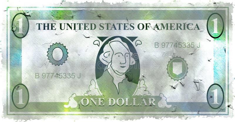 Dólar de Grunge ilustração royalty free